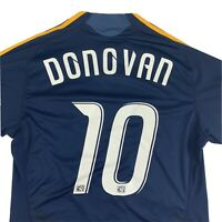 Adidas Landon Donovan #10 MLS LA Galaxy Away Soccer Jersey Mens Medium Navy Blue