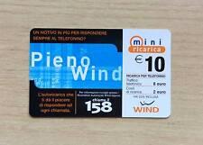 RICARICA TELEFONICA - WIND - PIENO WIND - 10,00 EURO