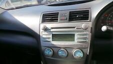 TOYOTA CAMRY RADIO/CD/DVD/SAT/TV SINGLE CD PLAYER, ACV40, W/ BLUETOOTH TYPE, 04/