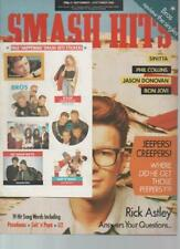 September Smash Hits Music, Dance & Theatre Magazines