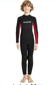 Aunua Youth 3/2mm Neoprene Wetsuits for Kids Full Wetsuit Swimming Suit ~Size 8