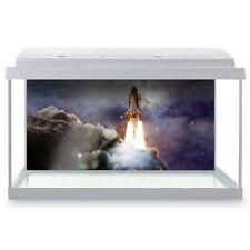 Fish Tank Background 90x45cm - Interstellar Space Travel Rocket  #24543