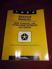 1994 Dodge Plymouth Chrysler LHS,Concorde, NY, Intrepid, Vision Service Manual!