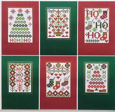 CHRISTMAS HO HO HO SET 6 RIVERDRIFT CHRISTMAS CARDS COUNTED CROSS STITCH KIT