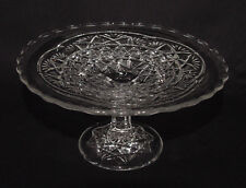 """EAPG!! PERFECT Glittery Higbee """"TEN POINTED STAR"""" CAKE/PASTRY STAND!!"""