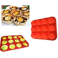 12 Cup Silicone Mold Muffin Pudding Mould Bakeware Round Cake Pan Baking Tools