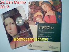 2 euro SAINT MARIN San Marino 2013 500 ans mort PINTURICCHIO remplace Kennedy