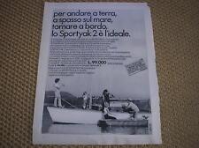 SPORTYAK 2 YACHT INOVAC 1968 ADVERTISING PUBBLICITA REKLAME WERBUNG PUBLICITE