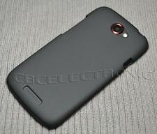 New Black Rubberized Hard Case cover for HTC One S Z520e