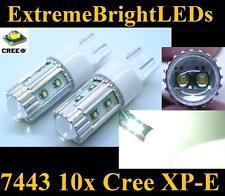 TWO Xenon HID WHITE 50W High Power 10x Cree XP-E 7440 7443 Turn Signal Lights