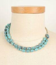 Vintage Glass Multi Strand Choker Necklace