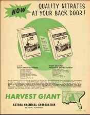 1959 vintage farm ad for Harvest Giant Fertilizers-091212