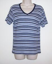 """Fashion Bug Striped Pull Over Top Ladies Size Medium  Bust 38"""" Length 24 1/2"""""""