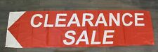 New Clearance Sale Banner Sign Flag Massive 2' x 8' Big Liquidation Red Tag