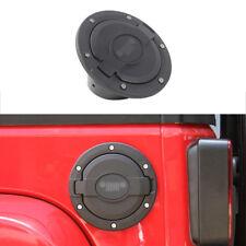 fit for 2007-18 Jeep Wrangler JK 2/4dr Fuel Filler Door Cover Gas Tank Cap-Black