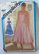Simplicity 6386 Sewing Pattern Gunne Sax UNCUT Sizes 6&8 Misses Evening Gown