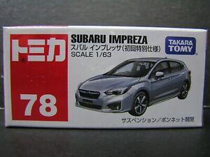TAKARA TOMY TOMICA DieCast car 1:63 SUBARU IMPREZA #78