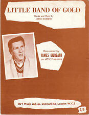 Little Band Of Gold - James Gilreath - 1963 Sheet Music