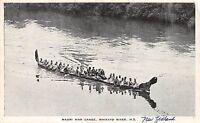 B91/ New Zealand Postcard 1955 Maori War Canoe Waikato River Warriors 18
