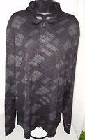 Izod X treme Function Golf Mens Black Bluish Green Design Polo Shirt Size XXL