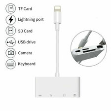 4in1 Lightning to Card Reader Adapter USB Camera Micro SD Memory Slot for iPhone