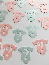 Gender Reveal Confetti Baby Shower Party Table Decoration Girl Boy Question Vest