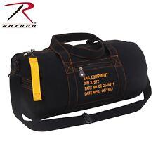 """19"""" Black Canvas Gym Bag - Shoulder Bag/Duffle Bag/Equipment Bag/Travel Bag"""