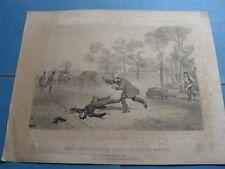 """BELLE LITHOGRAPHIE """"ACCIDENT DUC D'ORLEANS"""" 1842 ORLEANISME Signé F. GRENIER"""