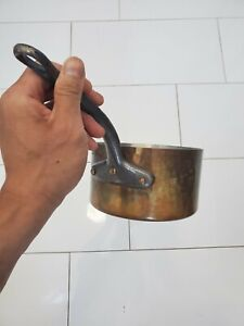 """Mauviel Hammered Copper Sauce Pan 6.5"""". 2 qt Saute Chef France Free Shipping"""