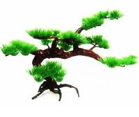 Aquarium Plastic Pine Tree Water Plant Bonsai For Fish Tank Ornament Decoration