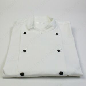 Super High Quality Chef White Double Breasted Jacket. 100% Cotton Kitchen Wear
