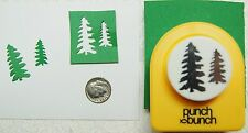 Large TWO PINE TREES Paper Punch by Punch Bunch Scrapbook-Cardmaking-Quilling