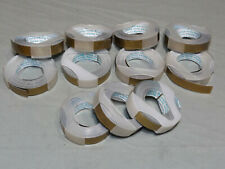 Rotex Label Maker Tape Gold Colored Lot Of 11 Rolls 38 X 12 Vintage