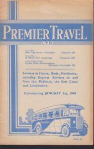 PREMIER TRAVEL BUS TIMETABLE BOOK JAN 1949