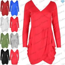 Long Sleeve Stretch Wrap Dresses