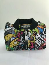 SS18 Moschino Couture Jeremy Scott CARTOON BOMBER JACKET MULTICOLOR SHOULDER BAG