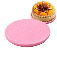 Small Cake Revolving Turntable Decor Stand Platform Rotating Baking Tools NEW LG