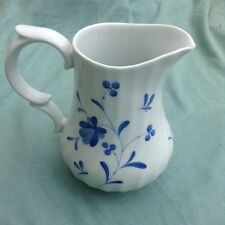 """Royal Worcester Blue Bow Lovely 6 1/2"""" Water Jug"""