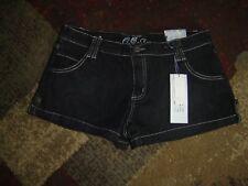 NWT Women's OSC Black Premium Denim Embellished  Shorts size13 MSRP $35