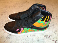 *NEW* Coach High Top Fashion Sneakers C202 Black Leather G1420 Mens Sz 9