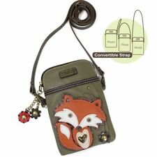 "Chala Cell Phone Crossbody Bag ""FOX"" Olive - Convertible Strap NEW"