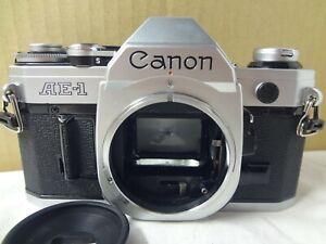 Near mint Canon AE-1 35mm SLR Camera w/eye cup light seal renewed from Japan2999