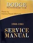 1960 1961 Dodge Custom Dart Matador Polara Service Manual Shop Repair Reprint