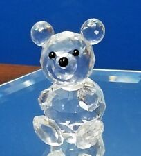 "Swarovski crystal Teddy Bear block logo 2"" tall"