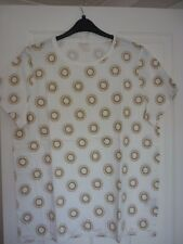 BODEN MAKE A STATEMENT TEE IVORY/GOLD SUNRAY UK 20-22, EUR 46-50, US 16-18. BNWT