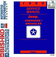 OEM Digital Repair Maintenance Shop Manual CD for Jeep Cherokee, Wrangler 1993