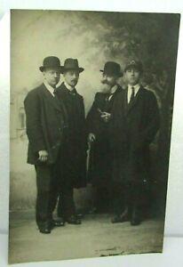 Antique Postcard Real Photo Studio Taken Group Of Men fashion RPPC