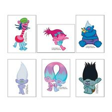 Trolls Tattoos x 12 - Loot Bags - Party Favours - Trolls Party - Trolls Birthday
