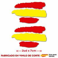 2 X BANDERA ESPAÑA SPAIN PEGATINA ADHESIVO VINILO COCHE MOTO CASCO TUNING CORTE