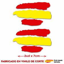 2 x BANDERA ESPAÑA NOMBRE EDITABLE PEGATINA VINILO CASCO BTT BICI pc3